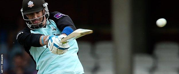 Kevin Pietersen playing for Surrey in 2014
