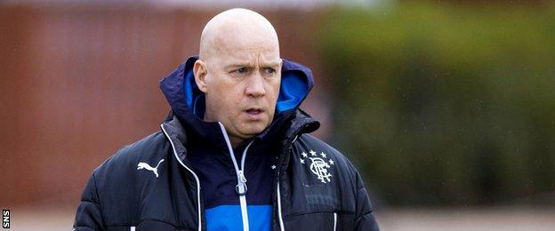 Rangers manager Kenny McDowall