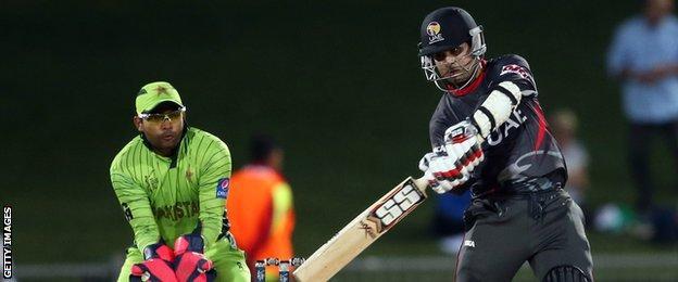 UAE batsman Shaiman Anwar hits out