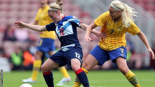 Scotland midfielder Kim Little in action for Team GB