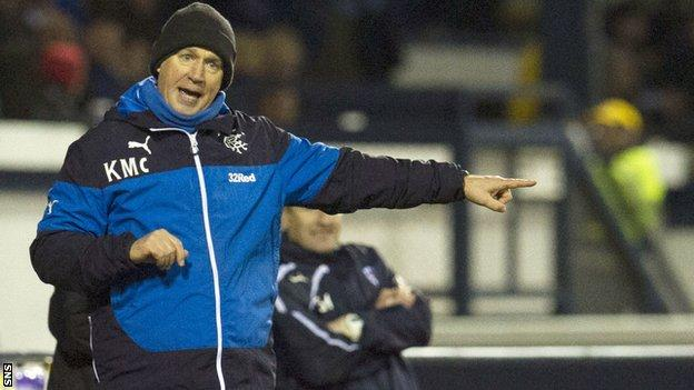 Rangers' interim manager Kenny McDowall
