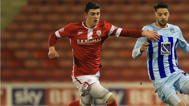 Barnsley striker George Waring