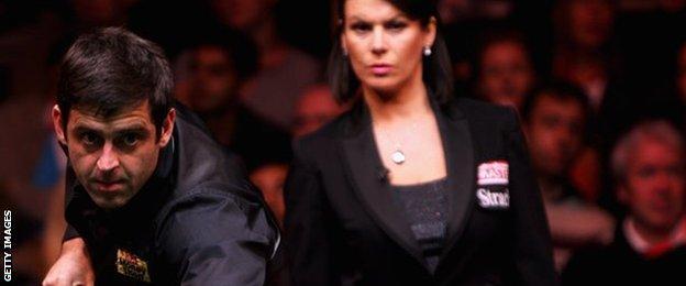 Ronnie O'Sullivan and Michaela Tabb