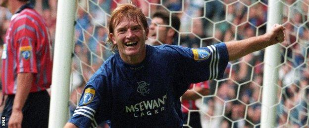 Stuart McCall spent seven years as a player at Rangers between 1991 and 1998.