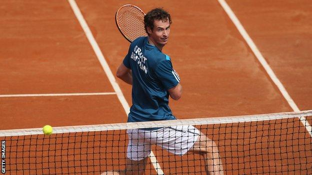 Andy Murray in the Davis Cup