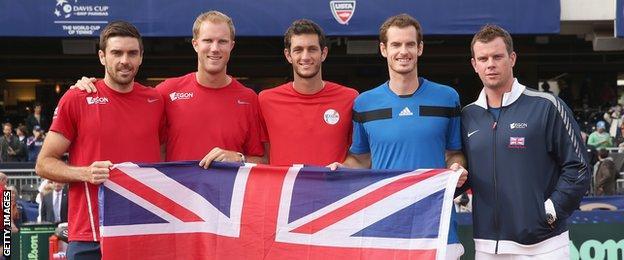 Great Britain's 2014 Davis Cup team