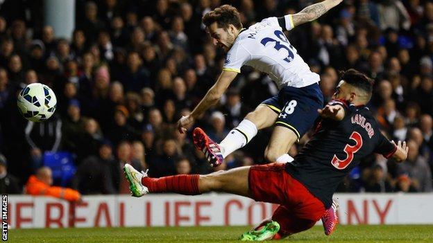 Ryan Mason scores for Tottenham