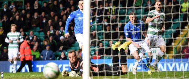 Anthony Stokes went close for Celtic in the first half