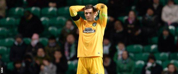 Craig Gordon conceded in the league for the first time since McDairmid Park last month