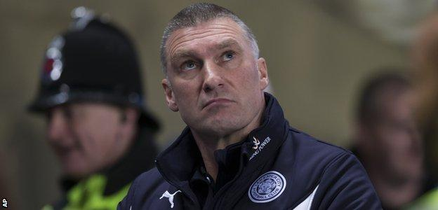 Leicester City manager Nigel Pearson