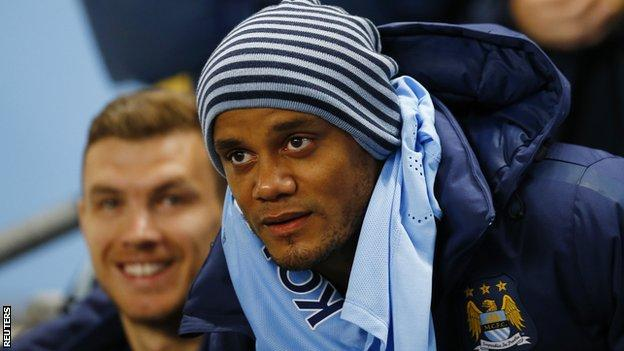 Manchester City captain Vincent Kompany