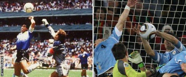 Diego Maradona and Luis Suarez