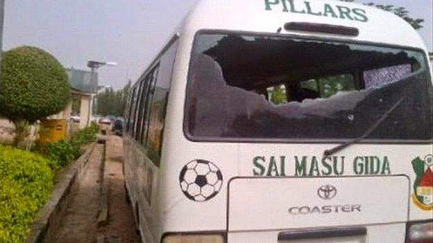 Kano Pillars's bus was attacked by gunmen