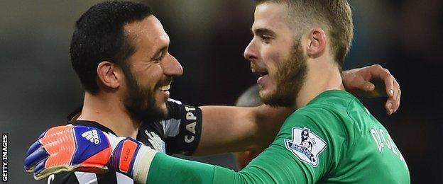 Jonas Gutierrez and David De Gea