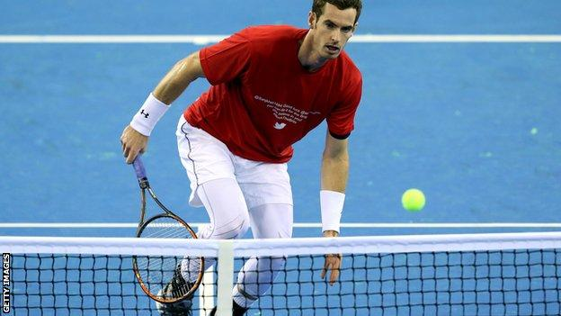 Andy Murray in Davis Cup preparation