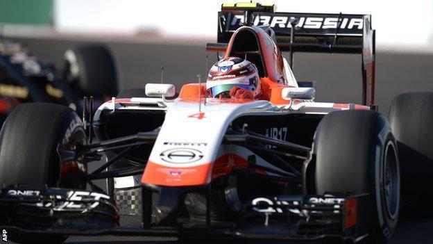 Max Chilton driving the 2014 Marussia