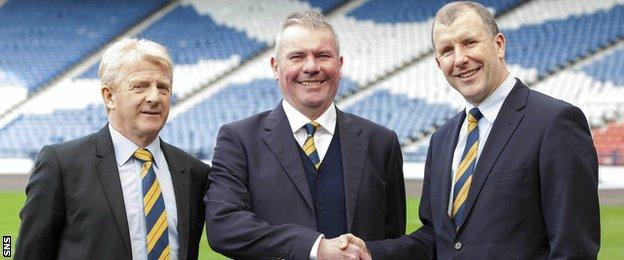 Gordon Strachan, Brian McClair and Stewart Regan