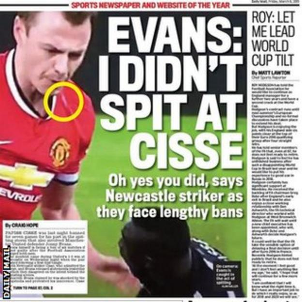 Daily Mail's back page