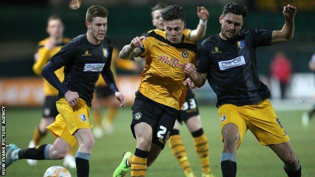 Striker Miles Storey is on loan at Newport from Swindon until the end of the season