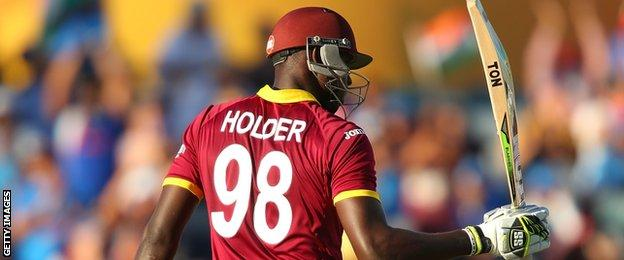 Jason Holder acknowledges his fifty