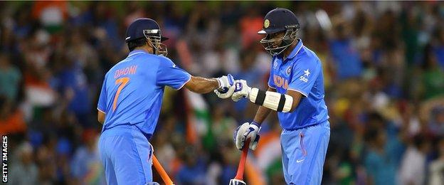 MS Dhoni and Ravichandran Ashwin