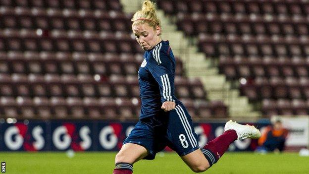 Kim Little equalised for Scotland after 80 minutes.