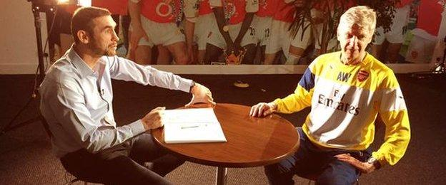 Matin Keown interviews Arsene Wenger