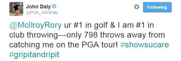 John Daly tweets Rory McIlroy