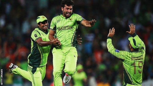 Pakistan celebrate win over South Africa