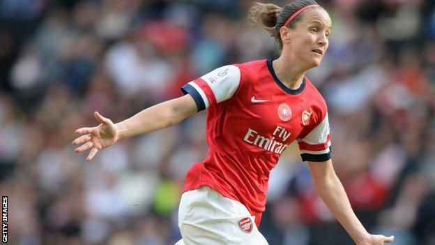 Casey Stoney of England and Arsenal