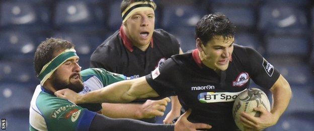 Sam Hidalgo-Clyne kicked nine points for Edinburgh against Treviso