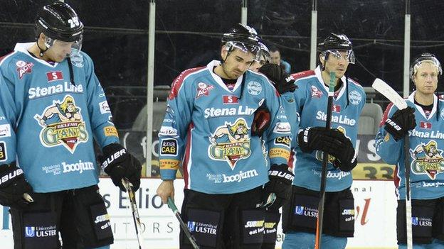 The Belfast Giants have lost eight away matches in a row
