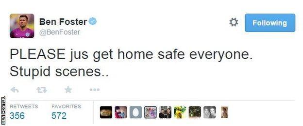 West Brom goalkeeper Ben Foster tweet