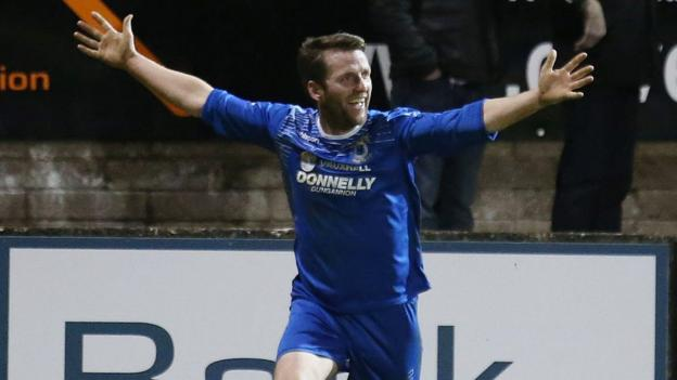 Terry Fitzpatrick scored the crucial goal as Dungannon Swifts beat Ballymena United 1-0 in the Irish Premiership