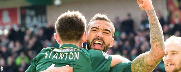 Liam Fontaine scored Hibs' fourth