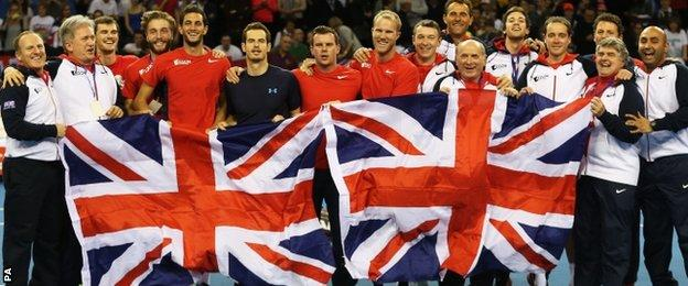 The Great Britain Davis Cup team
