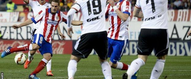 Koke scores for Atletico Madrid