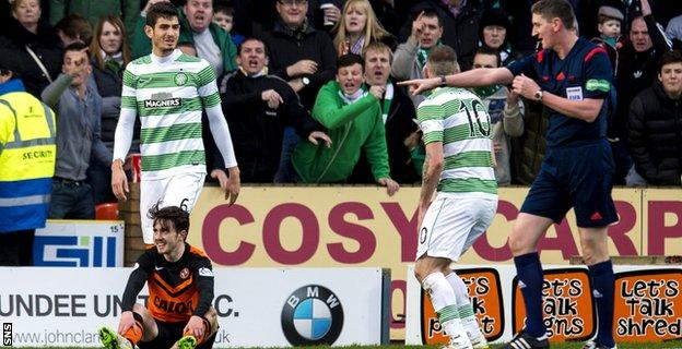 Aidan Connolly is awarded a penalty