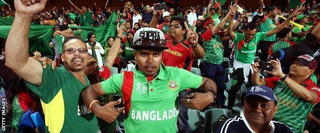 Bangladesh fans celebrate