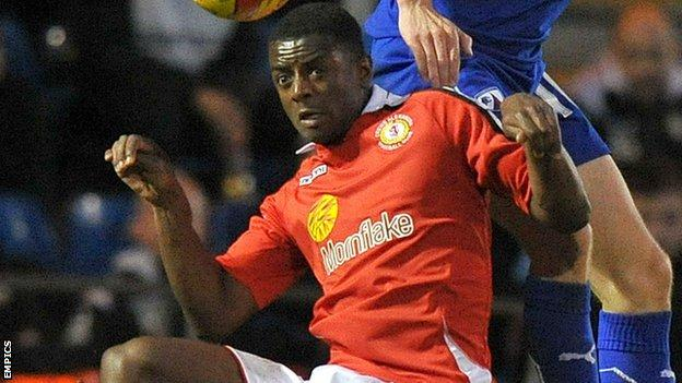 Crewe's on-loan Manchester City defender Greg Leigh