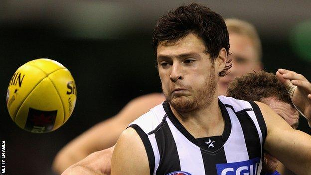 Martin Clarke played for Collingwood in the AFL
