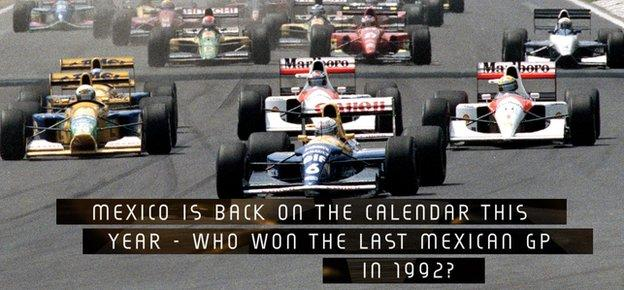 Mexico is back on the calendar this year - but who won the last Mexican GP back in 1992?