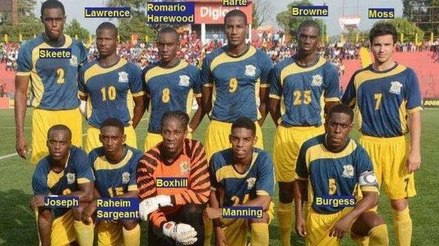 Barbados side which faced St Kitts and Nevis