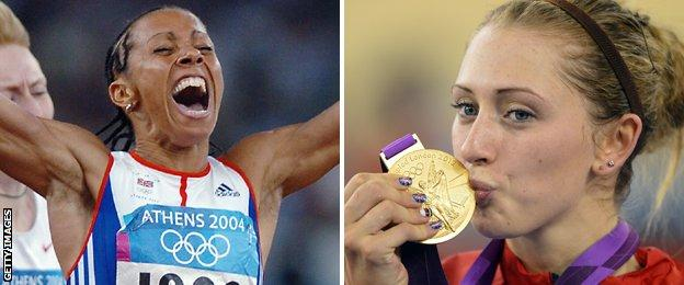 Dame Kelly Holmes and Laura Trott