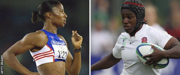 Denise Lewis and Maggie Alphonsi