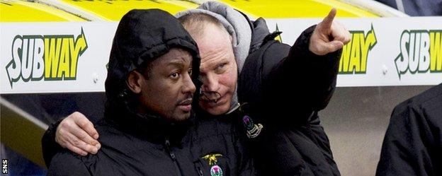 Russell Latapy and Inverness manager John Hughes