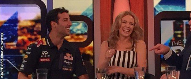 Daniel Ricciardo and Kylie Minogue