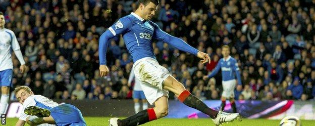 On-loan Newcastle midfielder Haris Vuckic gives Rangers the lead against Queen of the South