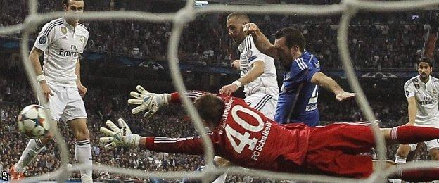 Karim Benzema scored his 20th goal of the season