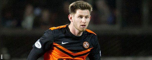 Dundee United midfielder Calum Butcher